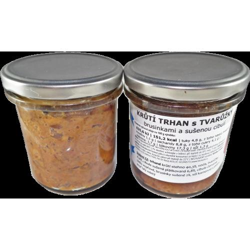 TRHANé krůtí s tvarůžky, sušenou cibulí a brusinkami 250 g
