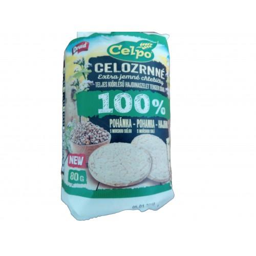 Celozrnný pohankový chléb, 80 g