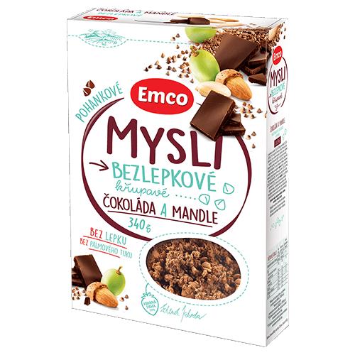 Emco Mysli pohankové čokoláda a mandle, 340 g