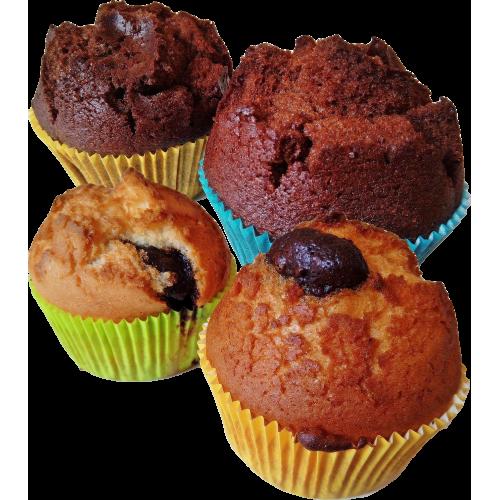 Muffin MIX 2+2 ks balený (brownie s meruňkami + piškot s nugátem), 4 x 85 g | min. trv. 21 dnů